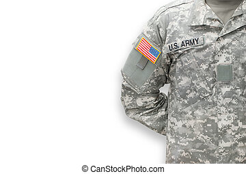 amerikan, soldat, vita, bakgrund