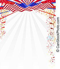 amerikan, stil, bakgrund