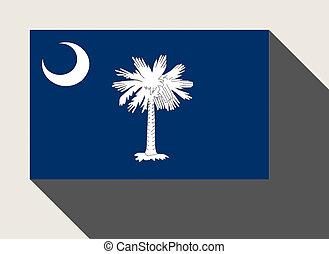 amerikan, tillstånd flagg, södra carolina