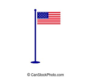 amerikan, vektor, flagga, illustration