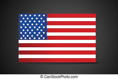 amerikan, vektor, flagga