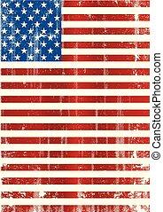 amerikan, vertikal, flagga