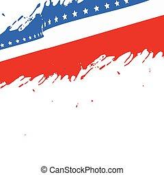 amerikaner flag, baggrund