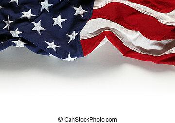 amerikaner flag, by, mindesmærke dag, eller, juli 4