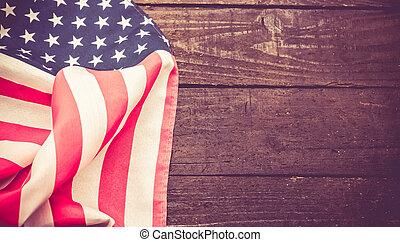 amerikaner flag, uafhængighed, i, united states, foren, baggrund