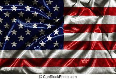 amerikaner flag, -, vink, fabric