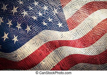 amerikaner, grunge, flag