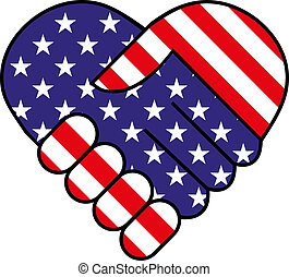 amerikaner, hånd ryst