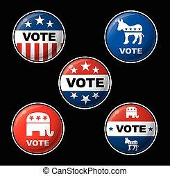 amerikaner, præsident, valg, afdelingen