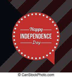 amerikanische , design, tag, unabhängigkeit