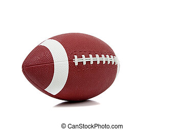amerikanische , fußball, auf, a, weißer hintergrund