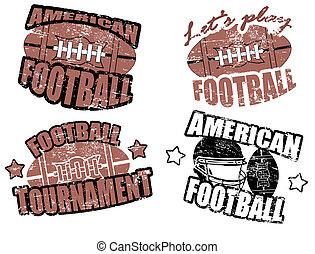 amerikanische , fußball, briefmarken