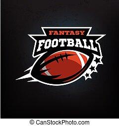amerikanische , fußball, fantasy.