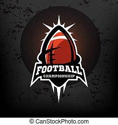 amerikanische , fußball, logo., meisterschaft