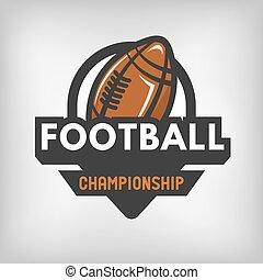 amerikanische , fußball, logo., sport
