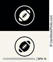 amerikanische , fußball, schablone, ikone