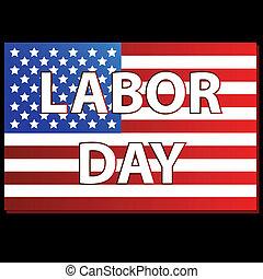 amerikanische , glücklich, tag, arbeit