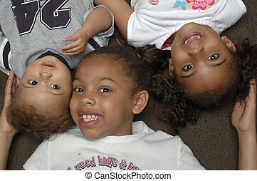 amerikanische , kinder, afrikanisch