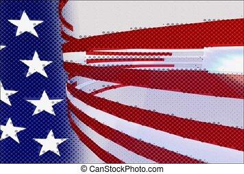 amerikanische markierung, auflage, streifen