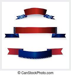 amerikanische markierung, banner, colors.