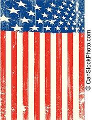 amerikanische markierung, dreckige