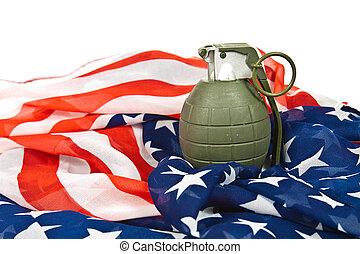 amerikanische markierung, granate