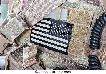 amerikanische markierung, militaer, fleck