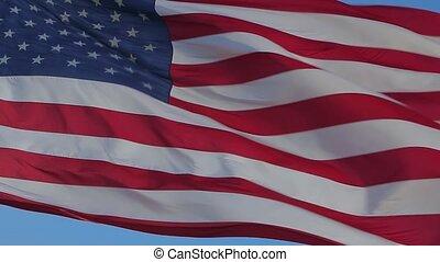amerikanische markierung, waving., ende