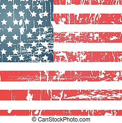 amerikanische markierung, weinlese, textured