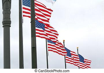amerikanische markierungsfahnen