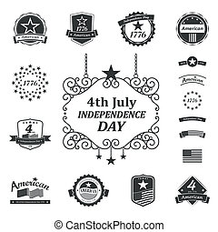 amerikanische , tag, unabhängigkeit, zeichen