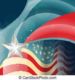amerikanische , vektor, fahne