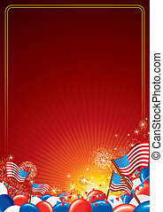 amerikanische , vektor, hintergrund, feier