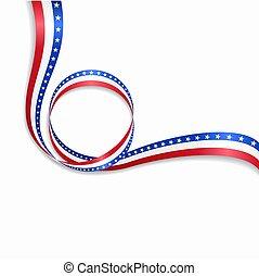 amerikanische , wellig, fahne, hintergrund., vektor, illustration.