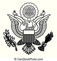 amerikanischer adler, emblem