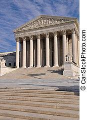 amerikanischer oberst gerichtshof, gebäude, in, washington dc