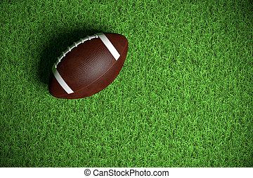 amerikansk fodbold, på, den, felt
