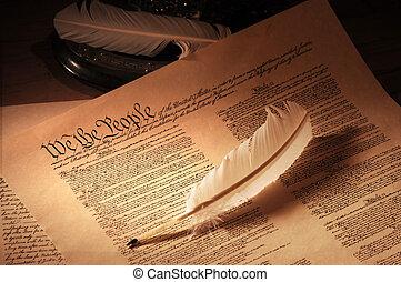 amerikansk. forfatning, medie