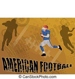 amerikansk fotboll, abstrakt, bakgrund