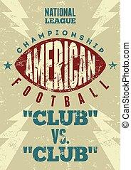amerikansk fotboll, poster.