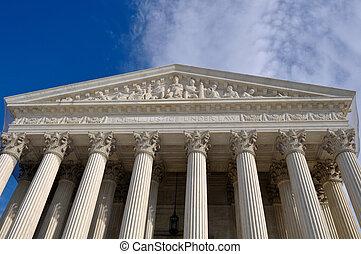 amerikansk högsta domstolen, byggnad, in, washington...
