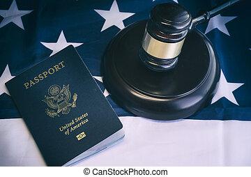 amerikansk juridik, invandring, laglig, begrepp, im
