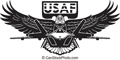 amerikanske. luft fremtvinge, -, militær, design.