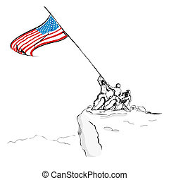 amerykańska bandera, armia