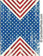 amerykańska bandera, brudny, tło