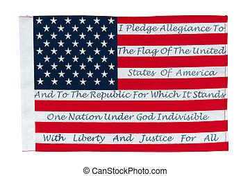 amerykańska bandera, fant, wierność