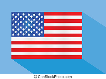 amerykańska bandera, ilustracja, idea