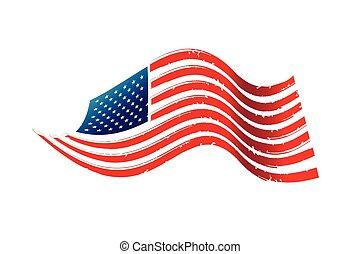 amerykańska bandera, ilustracja