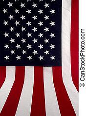 amerykańska bandera, rozpostarty, poza
