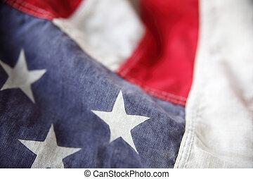 amerykańska bandera, szczegół